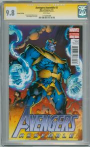 Avengers Assemble #3 Thanos Variant CGC 9.8 Signature Series Signed Mark Bagley Marvel Comic
